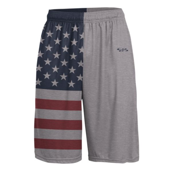 Men's USA Standout Advance Knit Short Steel/Navy/Red