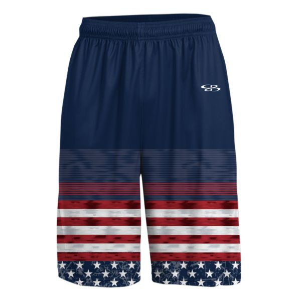 Men's USA Highlight Advance Knit Short Navy/Red/White