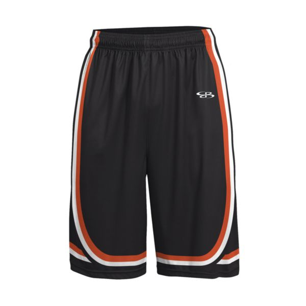 Men's Advance Knit Limit Shorts Black/Orange/White