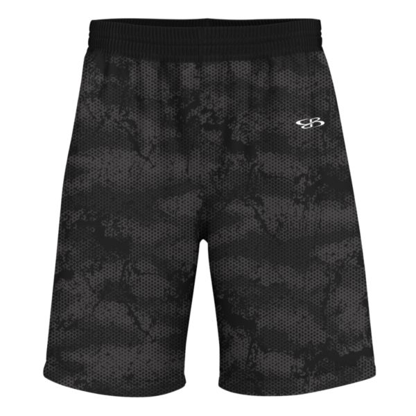 Men's Advance Knit Hex Shorts Black/White