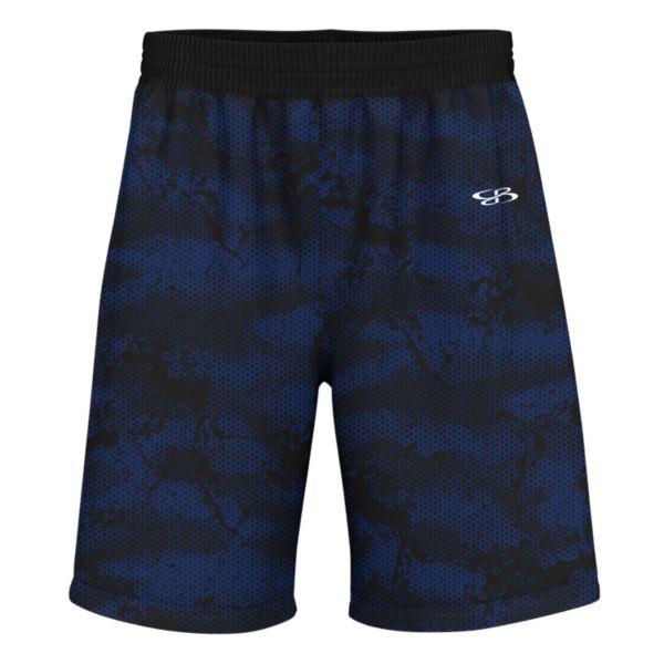 Men's Advance Knit Hex Shorts Royal/Black/White