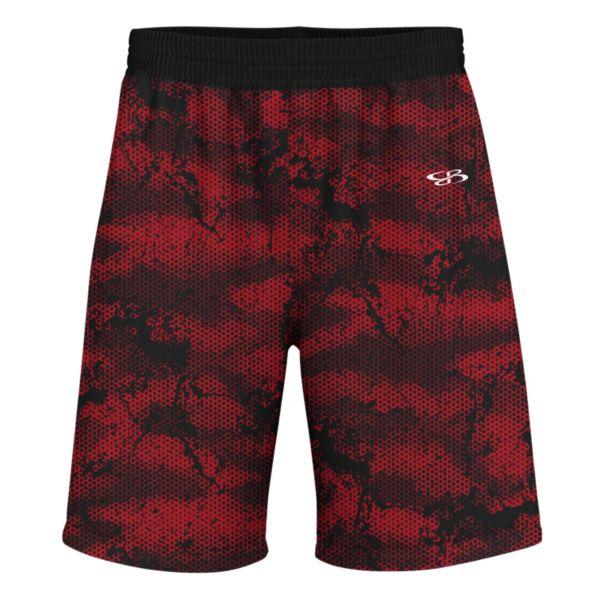 Men's Advance Knit Hex Shorts Red/Black/White