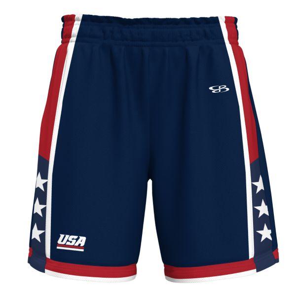 Men's USA Bank Advance Knit Short Navy/Red/White