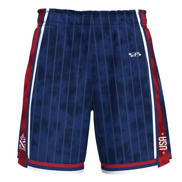 Men's USA Replay Advance Knit Short Royal Blue/Red/White