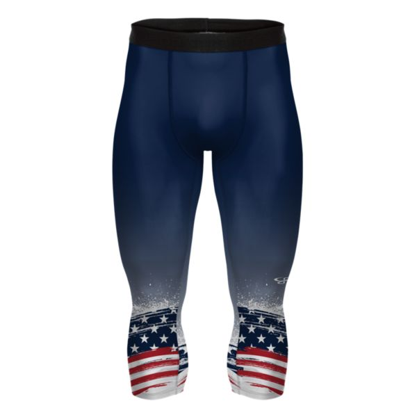 Men's USA Liberty 3/4 Compression Tight