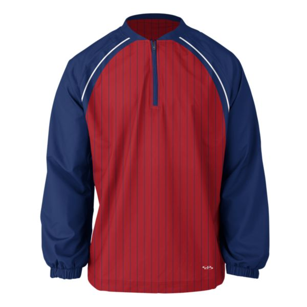 Men's Highlight Quarter Zip Royal/Red