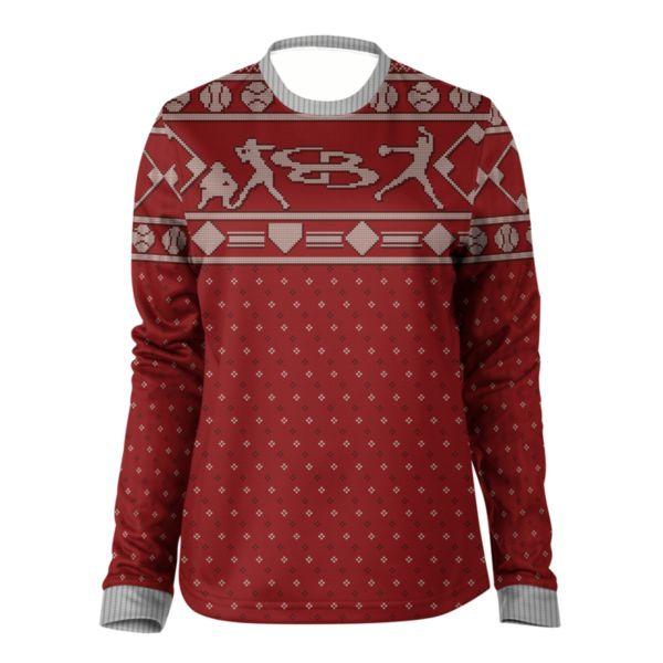 Women's Homerun Holiday Ugly Christmas Fleece Pullover