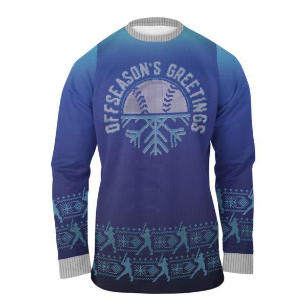 Men's Offseason's Greetings Ugly Christmas Fleece Pullover