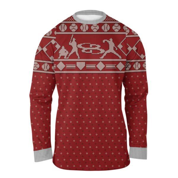 Men's Homerun Holiday Ugly Christmas Fleece Pullover