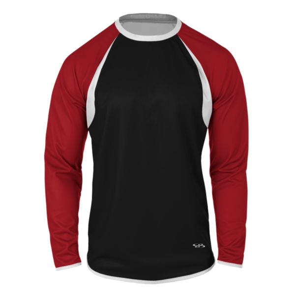 Men's Verge Pitch Crew Black/Red/White
