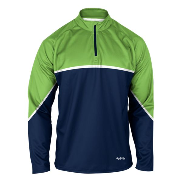 Men's Verge Playoff Quarterzip Navy/Lime Green/White