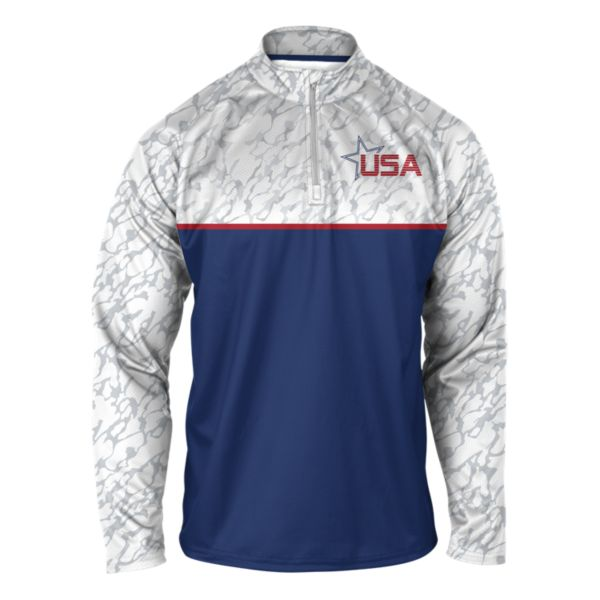 Men's USA Stealth Quarter Zip Pullover