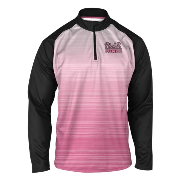 Men's BCA Pink Power Quarterzip Pink/Black/White