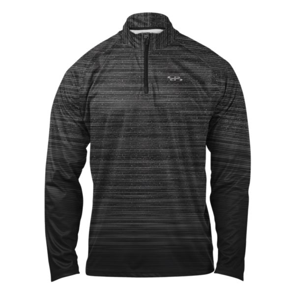 Men's Gamer Quarter Zip Pullover Black