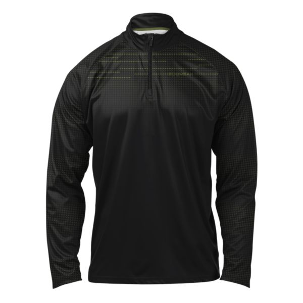 Men's Achieve Quarter Zip Pullover Black/Olive Drab