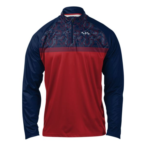 Men's USA Fortress Premier Quarter Zip Navy/Red/Gray