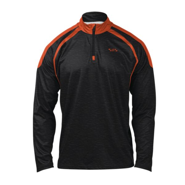Men's Stride Quarter Zip Pullover Black/Orange