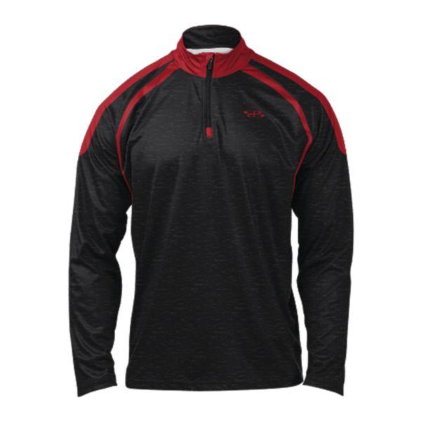 Men's Stride Quarter Zip Pullover Black/Red