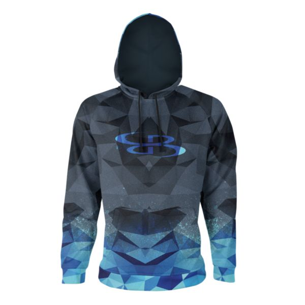 Boombah INK Men's Vortex Hoodie Black/Cyan