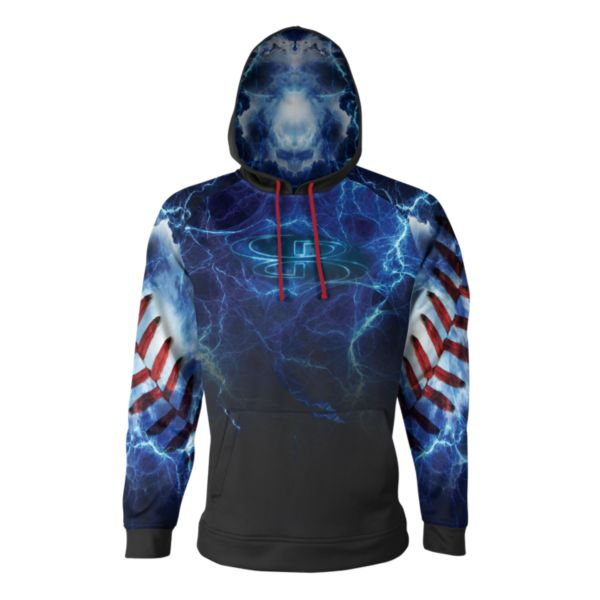 Boombah INK Youth The Natural Hoodie Black/White/Red