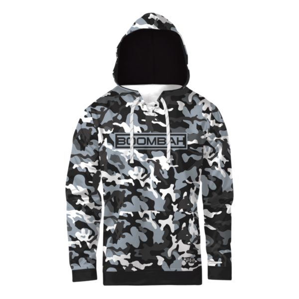 Boombah INK Men's Homerun Camo Lace Up Hoodie Black/Gray/Charcoal