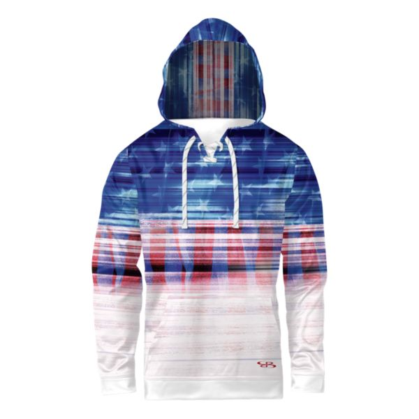Boomah Youth INK USA Tech Lace Up Hoodie Royal/Red/White Royal/Red/White