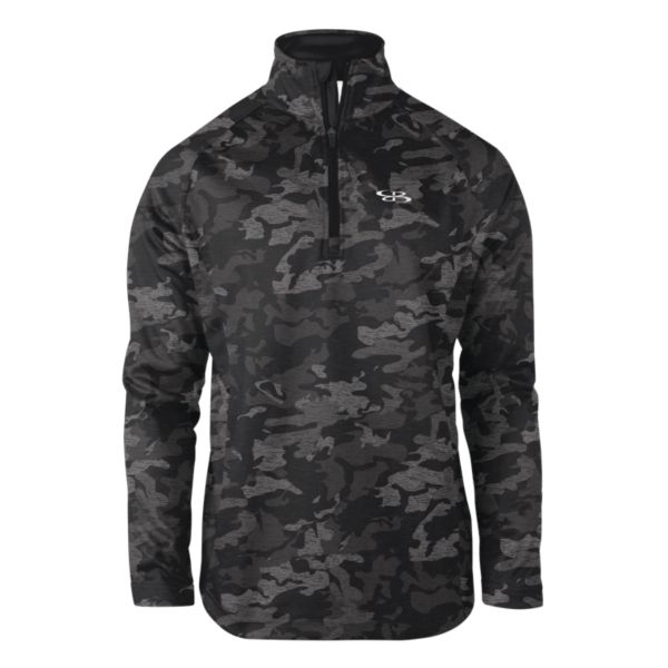 Men's Camo Fleece Quarter Zip Pullover Black