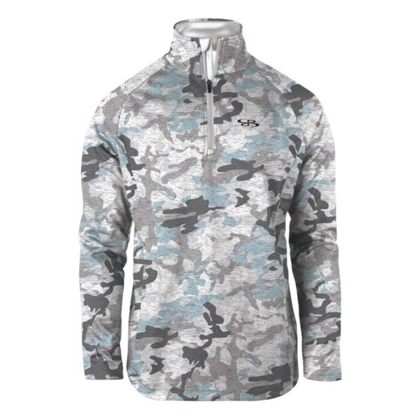 Men's Camo Fleece Quarter Zip Pullover White/Charcoal