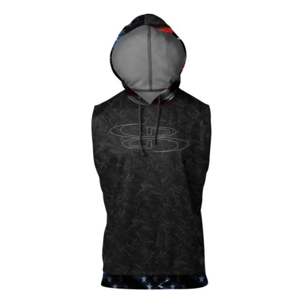 Men's USA Black Ops Verge Sleeveless Hoodie Black/Red/White