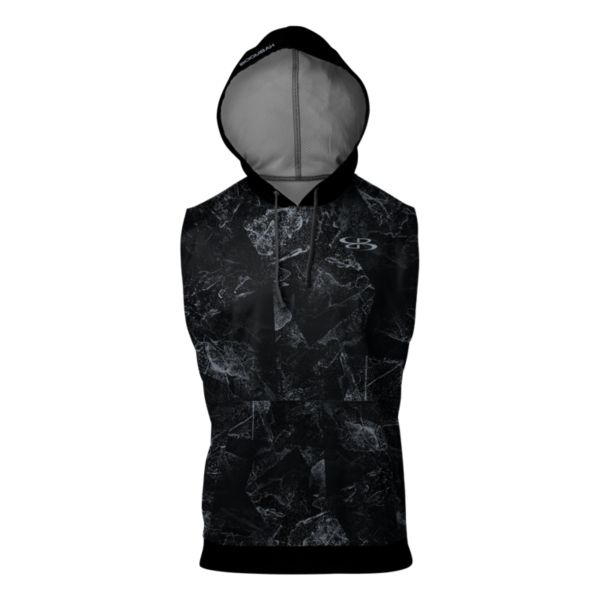 Men's Hustle Verge Sleeveless Hoodie Black/Gray