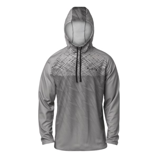 Men's Cross Hatch Lightweight Scuba Hoodie Gunmetal/Black