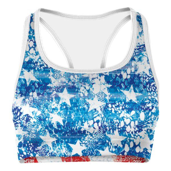 Women's USA Glory Sports Bra Azure/Red/White
