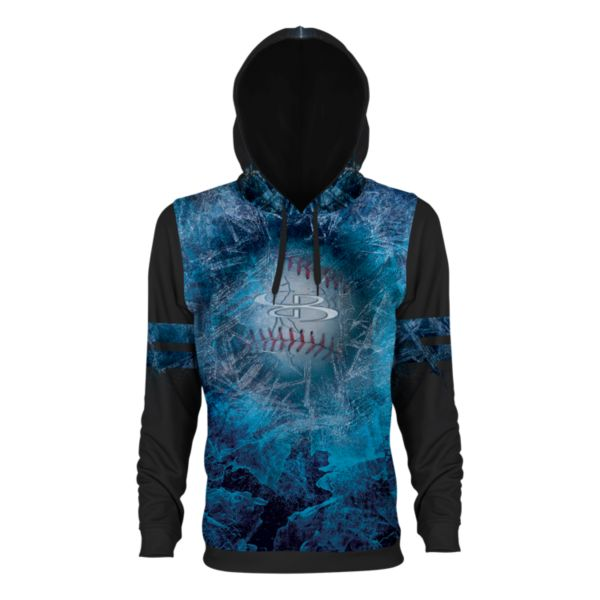 Boombah INK Youth Frozen Hoodie Black/Cyan/White