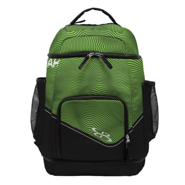 Swish Basketball Backpack Wavy Black/Lime Green/White