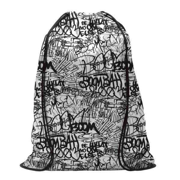 Graffiti Drawstring Pack Sack