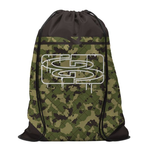 Fence Camo Drawstring Pack Sack