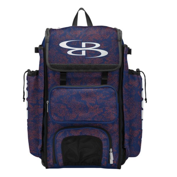 Catcher's Superpack Bat Bag Shadow Royal/Orange