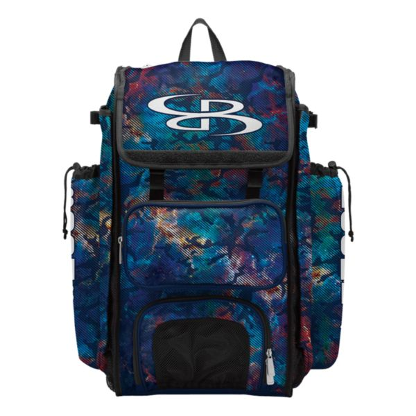 Catcher's Superpack Bat Bag Nebula Navy/Multi