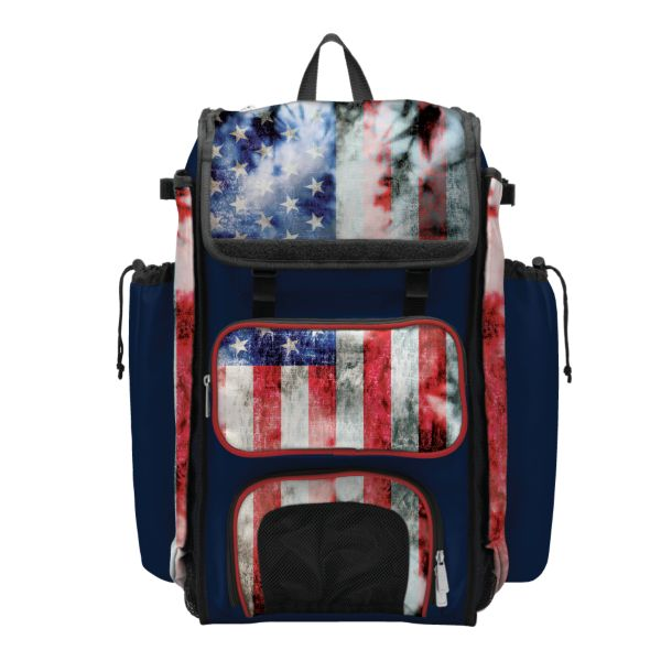 Catcher's Superpack Bat Bag USA Old Glory Navy/Red/White