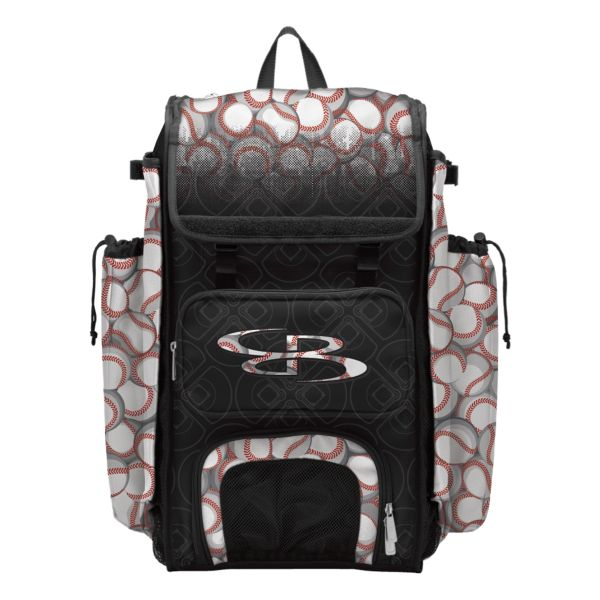 Catcher's Superpack Bat Bag Baseball Black/White/Red