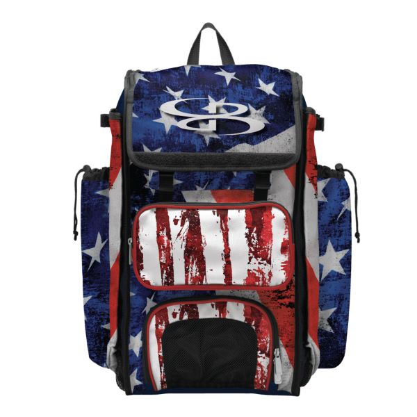 Catcher's Superpack Bat Bag USA Stars & Stripes Navy/Red/White