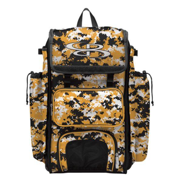 Catcher's Superpack Bat Bag Camo Black/Gold/White