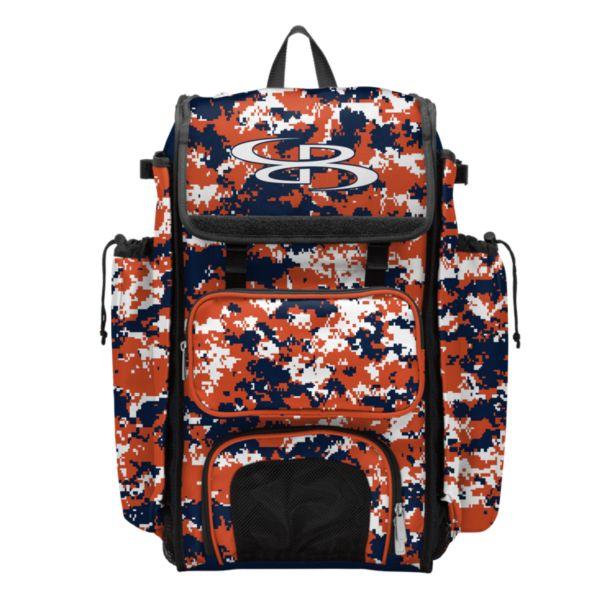Catcher's Superpack Bat Bag Camo Navy/Orange/White