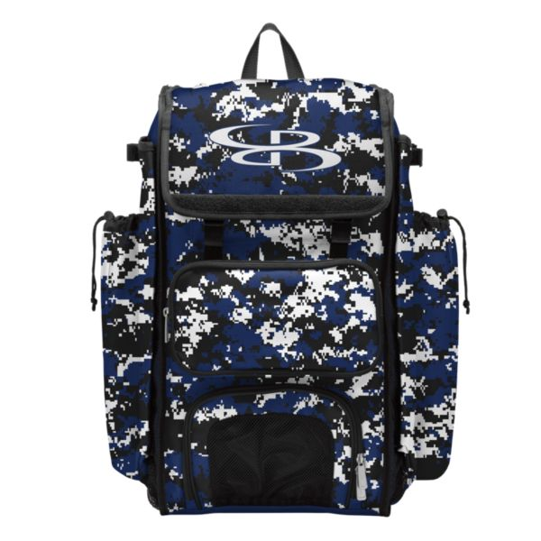 Catcher's Superpack Bat Bag Camo Royal/Black/White