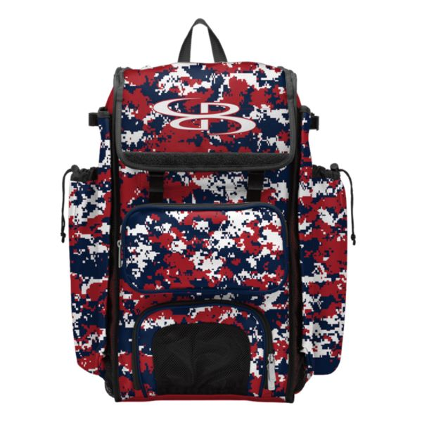 Catcher's Superpack Bat Bag Camo Red/Navy/White