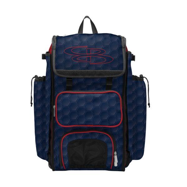 Catcher's Superpack Bat Bag 3DHC Navy/Red