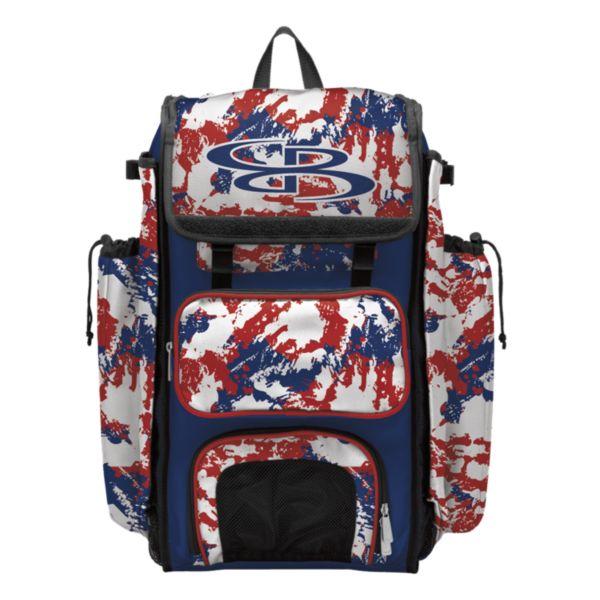 Catcher's Superpack Bat Bag Rocket Royal/Red/White