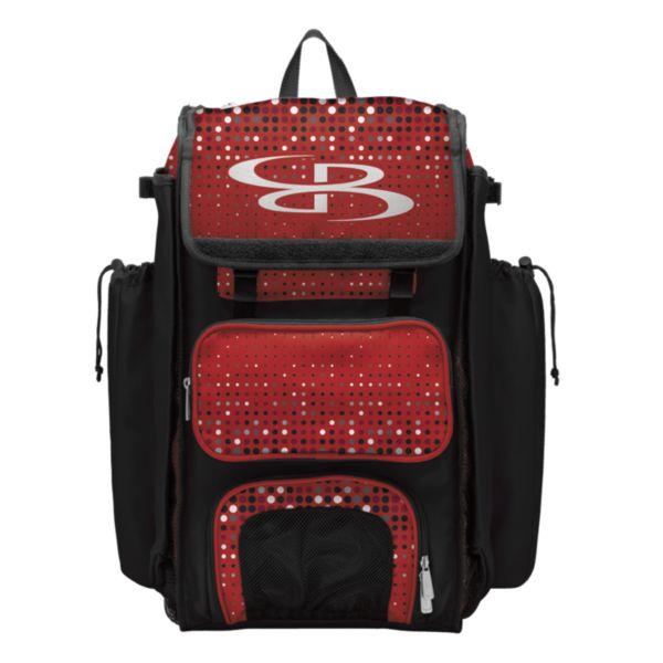 Catcher's Superpack Bat Bag Spotlight Black/Red/White