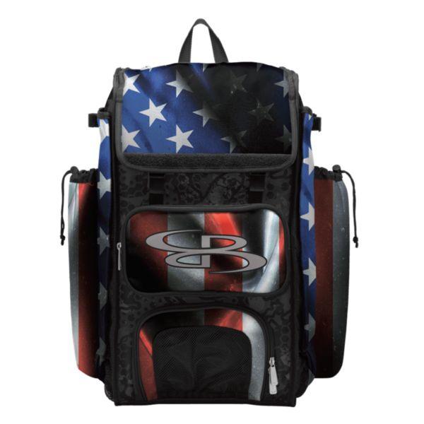 Catcher's Superpack Bat Bag USA Black Ops Black/Royal Blue/Red