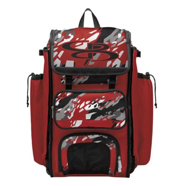 Catcher's Superpack Bat Bag Hexfire Black/Red/White